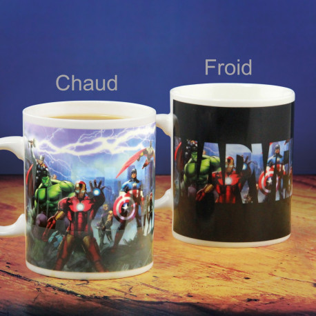 Mug Thermoréactif Personnages Marvel