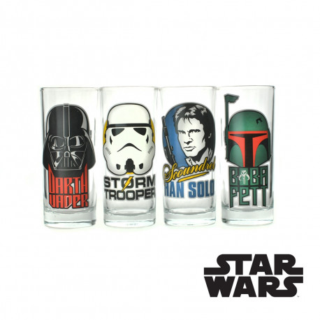 Set de Quatre Verres Star Wars - Portraits Personnages