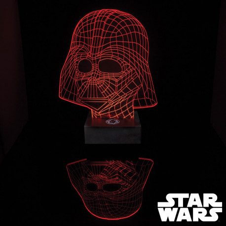 Lampe Star Wars Masque Dark Vador Acrylique Effet 3D
