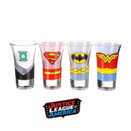 Shooters Justice League - lot de 4