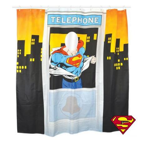 Rideau de Douche Superman Cabine Téléphonique