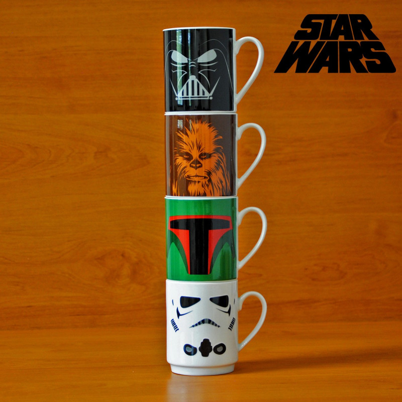 Tasses empilables personnages star wars kas design - Personnage de starwars ...