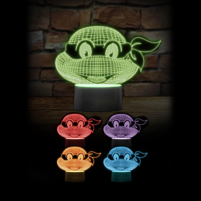 lampe tortues ninja multicolore par kas design. Black Bedroom Furniture Sets. Home Design Ideas