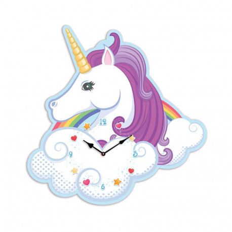 Horloge licorne distribu par kas design fournisseur d for Decoration licorne chambre