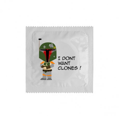 Préservatif I don't want clones