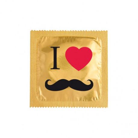 Préservatif I love Moustache