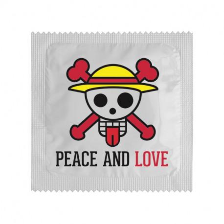Préservatif Peace&Love Tête de mort