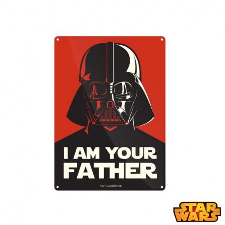 Petite Plaque Métallique Star Wars - I am Your Father