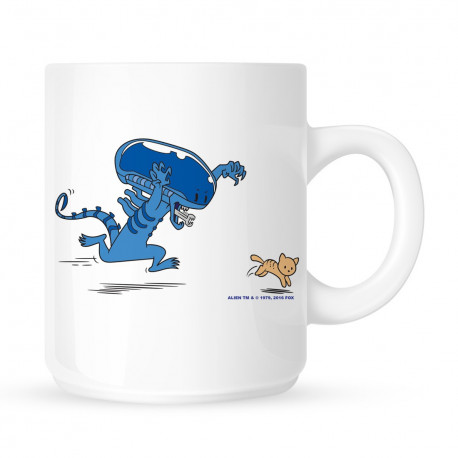 Mug Humoristique Alien vs Chat