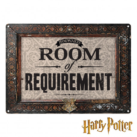 Petite Plaque Métallique Harry Potter - Room of Requirement