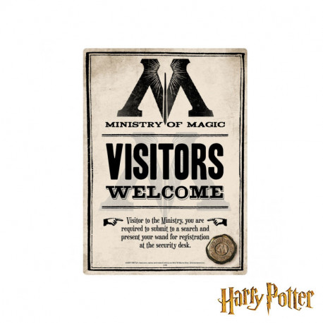 Petite Plaque Métallique Harry Potter - Ministry of Magic