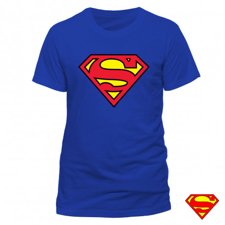 T-shirt Superman Bleu