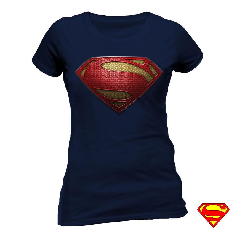 t shirt superman man of steel femme distribu par kas. Black Bedroom Furniture Sets. Home Design Ideas