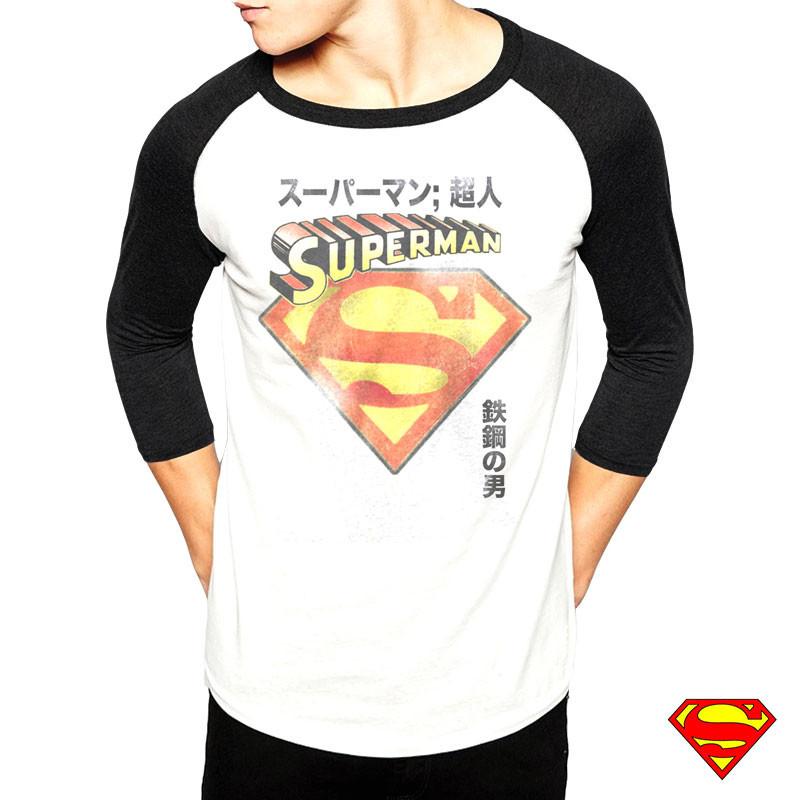 t shirt superman caract res japonais homme par kas design distributeur d 39 articles originaux et. Black Bedroom Furniture Sets. Home Design Ideas