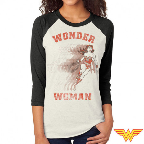 T-Shirt Wonder Woman Manches 3/4