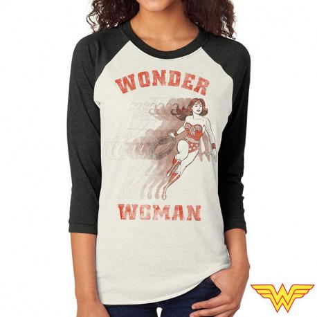 T-shirt Wonder Woman manches longues Femme