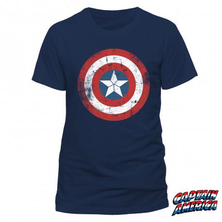 T-shirt Captain America Civil War Effet Vintage