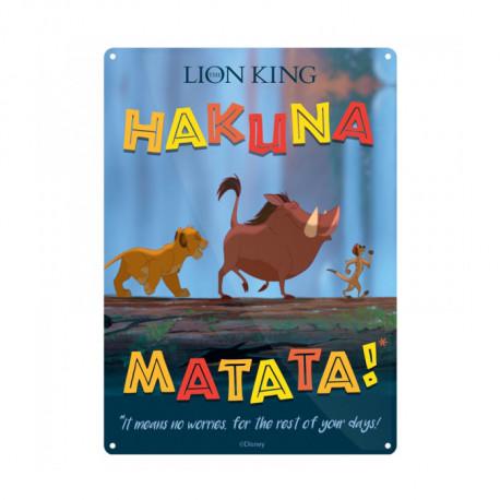Petite Plaque Métallique Le Roi Lion Disney - Hakuna Matata