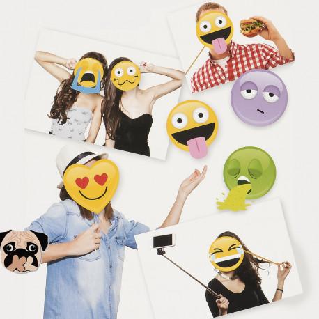 Kit d'Accessoires de Selfies Emoticônes