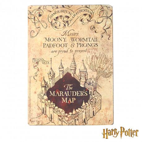 Petite Plaque Métallique Harry Potter - Carte du Maraudeur