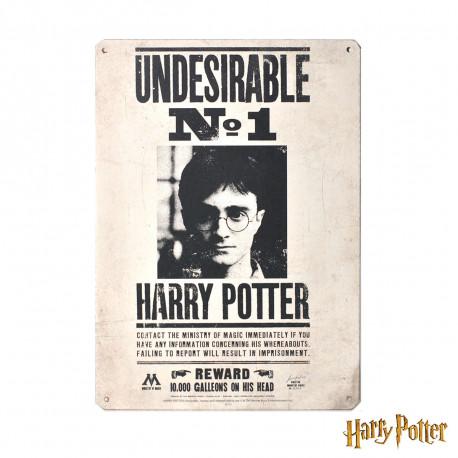Petite Plaque Métallique Harry Potter - Undesirable n°1