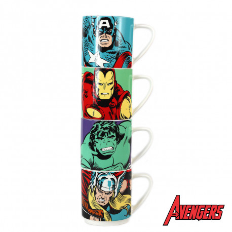 Tasses Empilables Super-Héros Marvel - Lot de 4