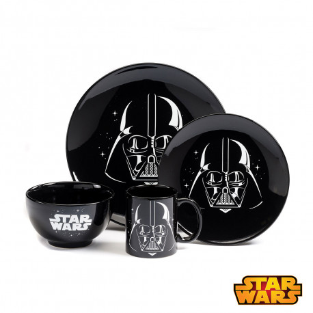 Set Repas Dark Vador Star Wars - 4 Pièces