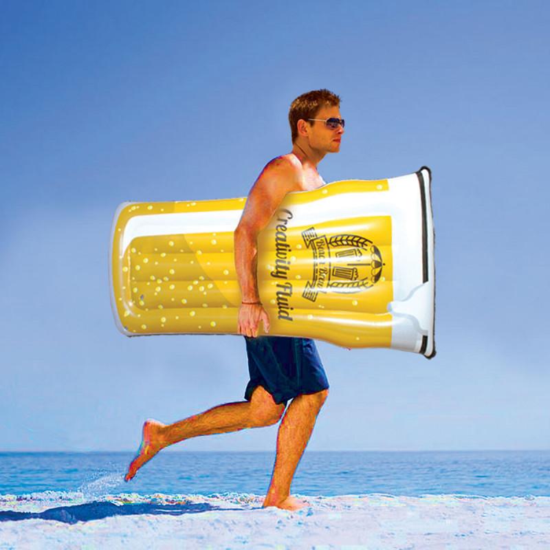 Matelas gonflable pinte de bi re par kas design revendeur - Matelas de plage pliable avec repose tete ...