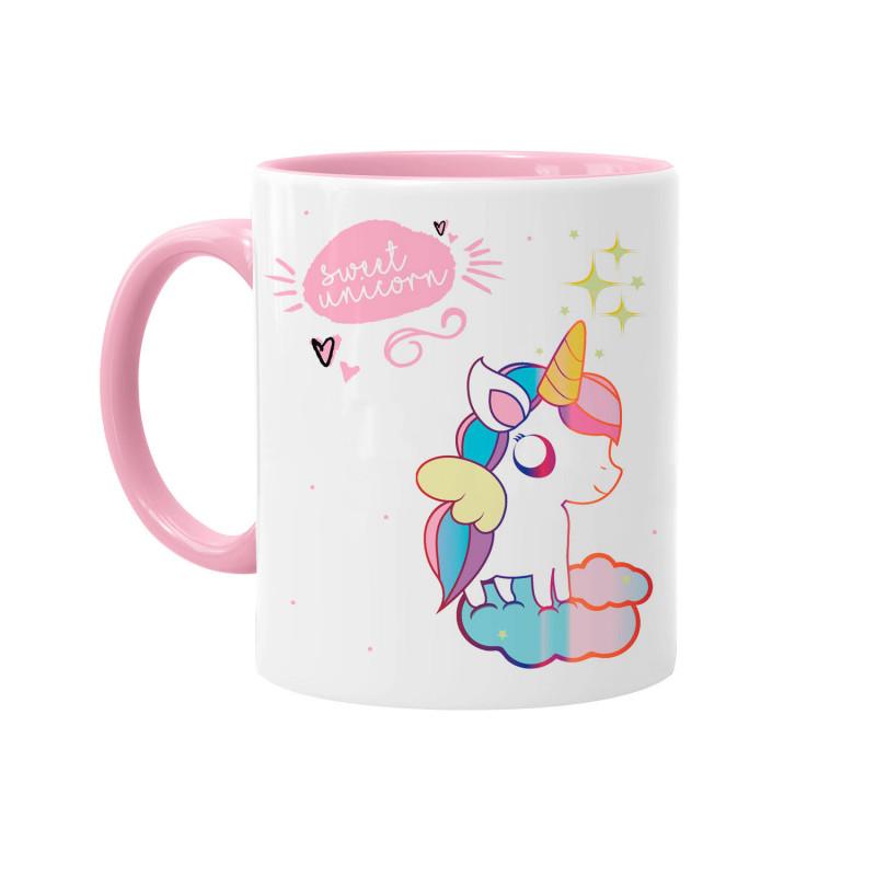 un mug licorne rose et blanc tout mignon sur kas design distributeur de produits licorne. Black Bedroom Furniture Sets. Home Design Ideas