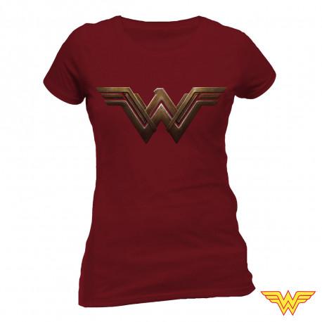 T-Shirt Wonder Woman Bordeaux