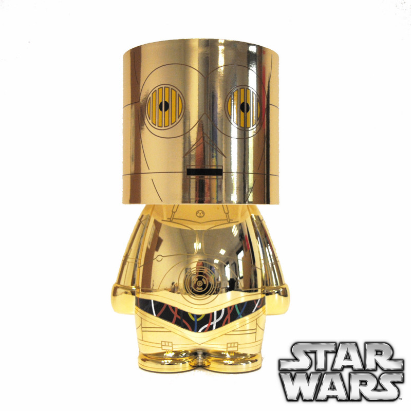 lampe look alite c 3po star wars kas design fournisseur de produits sous licence officielle. Black Bedroom Furniture Sets. Home Design Ideas