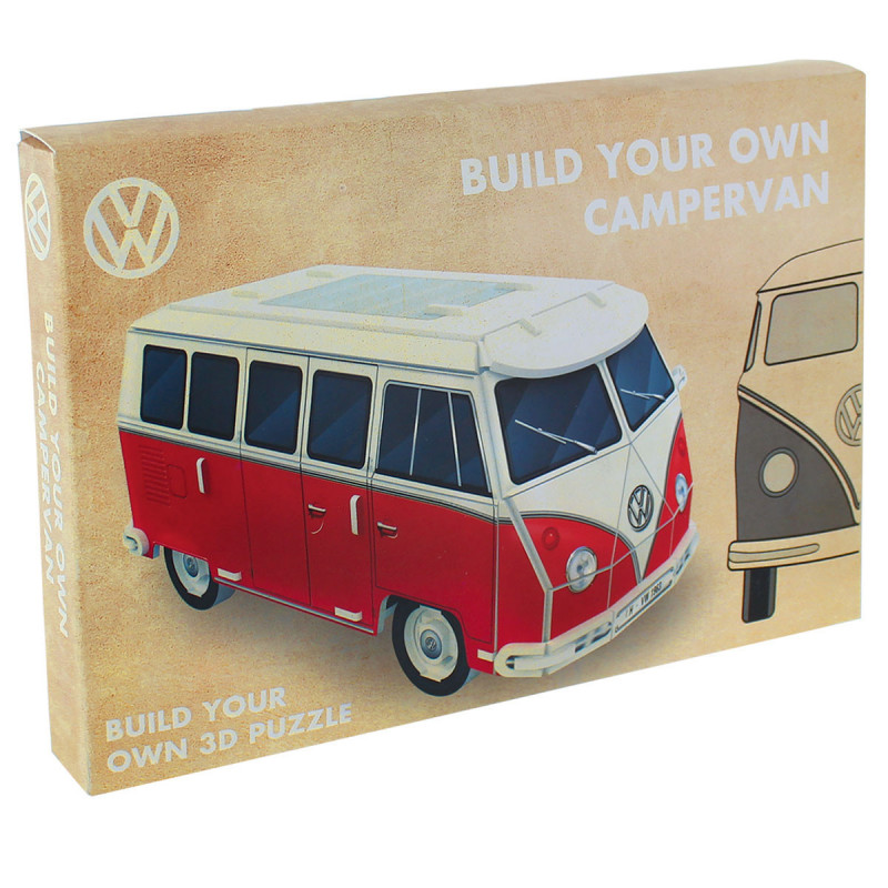 puzzle 3d campervan volkswagen sur kas design. Black Bedroom Furniture Sets. Home Design Ideas