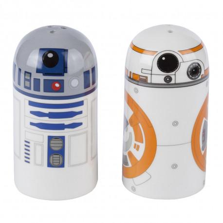 Salière et Poivrière Star Wars - R2D2 & BB-8