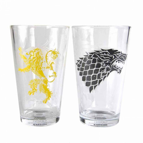 Maxi Verres Game of Thrones - Stark & Lannister