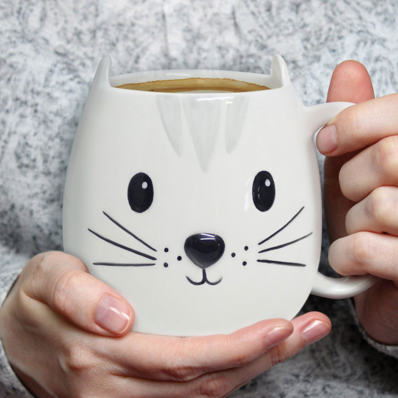 mug chat 3d kitty chez kas design distributeur de mugs insolites. Black Bedroom Furniture Sets. Home Design Ideas