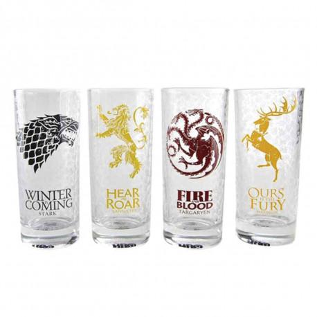 Verres Game of Thrones - Lot de 4