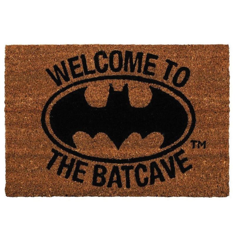 paillasson batman welcome to the batcave chez kas design. Black Bedroom Furniture Sets. Home Design Ideas