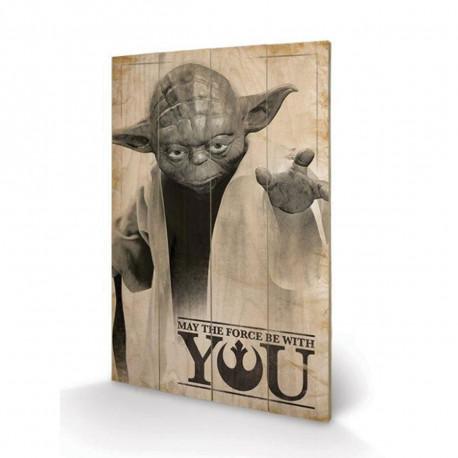 Panneau en Bois Star Wars Yoda