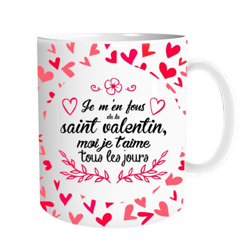 mug saint valentin je t 39 aime tous les jours chez kas design. Black Bedroom Furniture Sets. Home Design Ideas