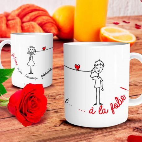 Mug Je t'Aime A la Folie