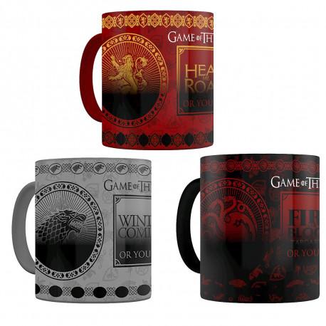 Mug Thermoréactif Familles de Game of Thrones