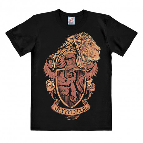 T-Shirt Harry Potter Noir Armoiries de Serpentard