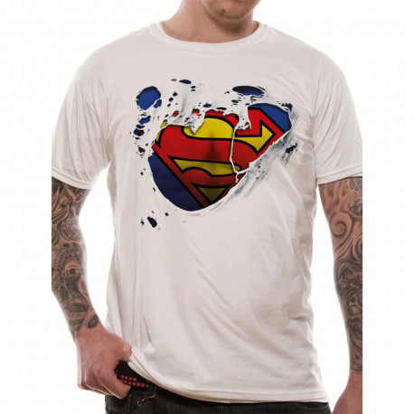 T-Shirt Superman Logo Déchiré