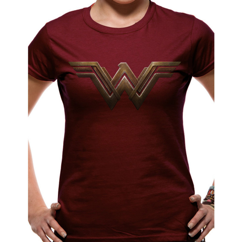 T-Shirt Wonder Woman Bordeaux sur Kas Design, Distributeur de ... 03fcf95ce14a