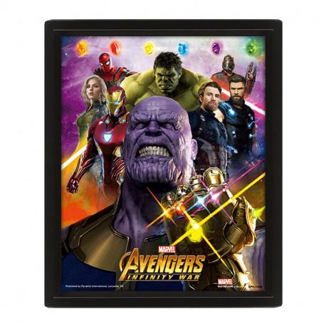 Cadre Super-Héros Marvel Avengers Effet Animé 3D