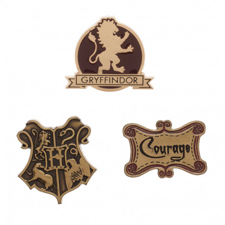 Lot de 3 Badges Gryffondor Harry Potter