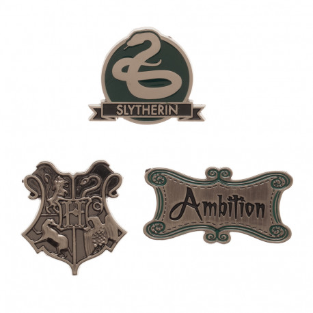 Lot de 3 Badges Serpentard Harry Potter