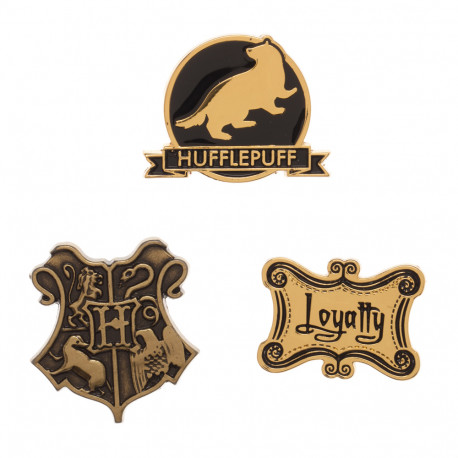 Lot de 3 Badges Poufsouffle Harry Potter