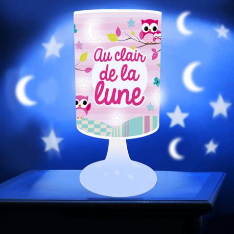 Lampe de Chevet Projection Au Clair de la Lune