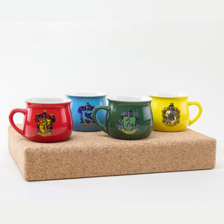 Tasses à Expresso Harry Potter Maisons Poudlard - Lot de 4